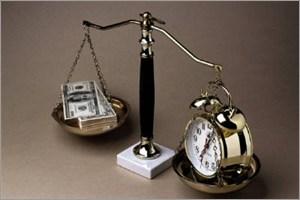お金と時間を秤にかける
